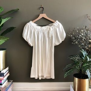 BCBGMaxAzria White Off the Shoulder Blouse